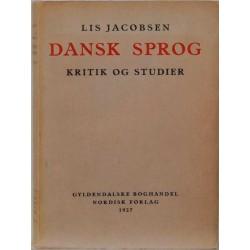 Dansk sprog - Kritik og studier