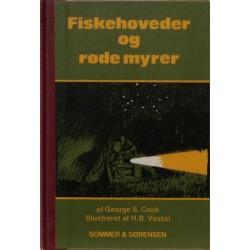 Fiskehoveder og røde myrer. Illustreret af H. B. Vestal.