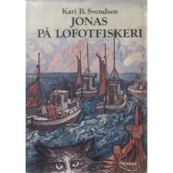Jonas på lofotfiskeri. Illustreret af Karl Erik Harr.