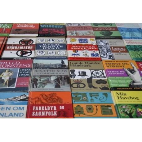 Politikens Håndbogsserie – kartoneret eller lærred 17 cm