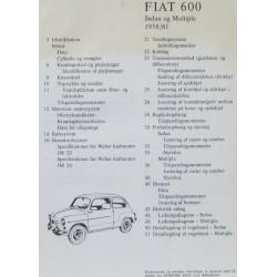 Fiat 600 Sedan og Multipla. 1958/61.