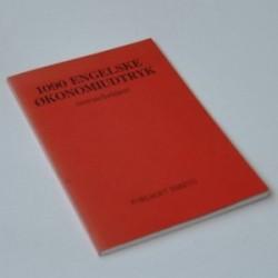 1090 Engelske økonomiudtryk - oversat / forklaret