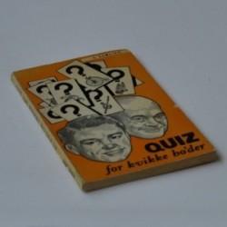 Quiz for kvikke ho'der - 4. samling