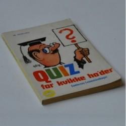 Quiz for kvikke ho'der - 16. samling