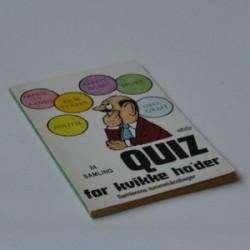 Quiz for kvikke ho'der - 24. samling