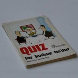 Quiz for kvikke ho'der - 28. samling
