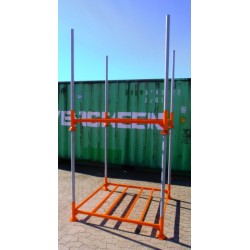 Pallerammer i stål 135 cm x 135 cm