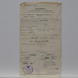 BFC 2 1951- Anmeldelse om afgiftsberigtigelse af knallert