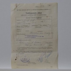 BFC 1  1951- Toldvæsenets attest vedrørende omsætningsafgift af knallert