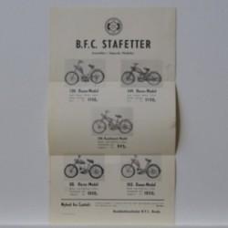 BFC Stafetter- fremstilles i følgende Modeller