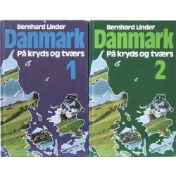 Danmark på kryds og tværs. Bind 1+2.