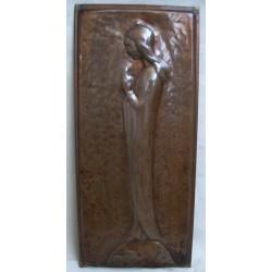 Billede ung kvinde - kobber plade