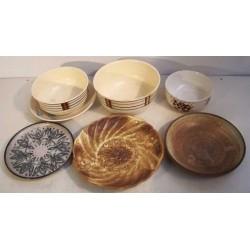 Lot - skåle - fade - askebægre - 7 dele
