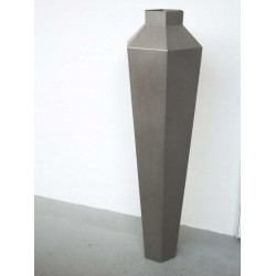 Gigant standerlampe - rustfrit stål