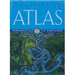 Politikens atlas. Verdensatlas med 112 kortsider.