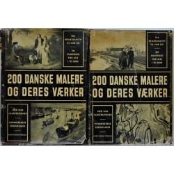 200 danske malere og deres værker 1-2
