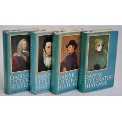 Dansk litteratur historie. Bind 1 - 4